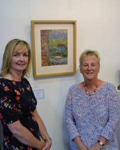 Dawn Harris (left) with Janet Rose, highly commended