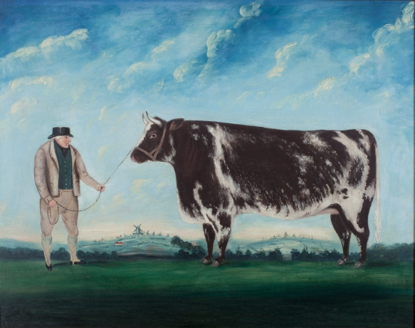 A Farmer and his Prize Heifer, artist unknown, c.1844 -® Compton Verney, photo by Jamie Woodley