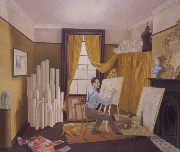 Eric Ravilious, Portrait of Edward Bawden, 1930 (c) Royal College of Art