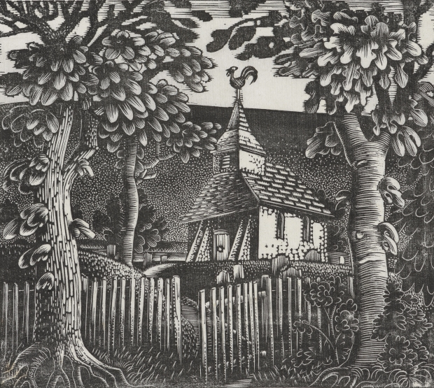 Eric Ravilious, Sussex Church, 1924. Towner Art Gallery, Eastbourne