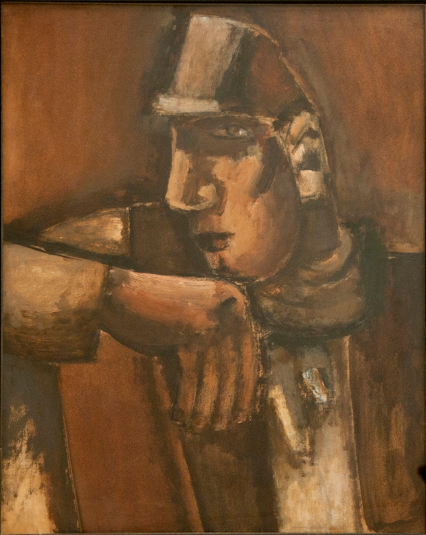Joseph Herman, Head of a Miner (copyright Joseph Herman, Rugby Art Gallery and Museum, Rugby Borough Coun