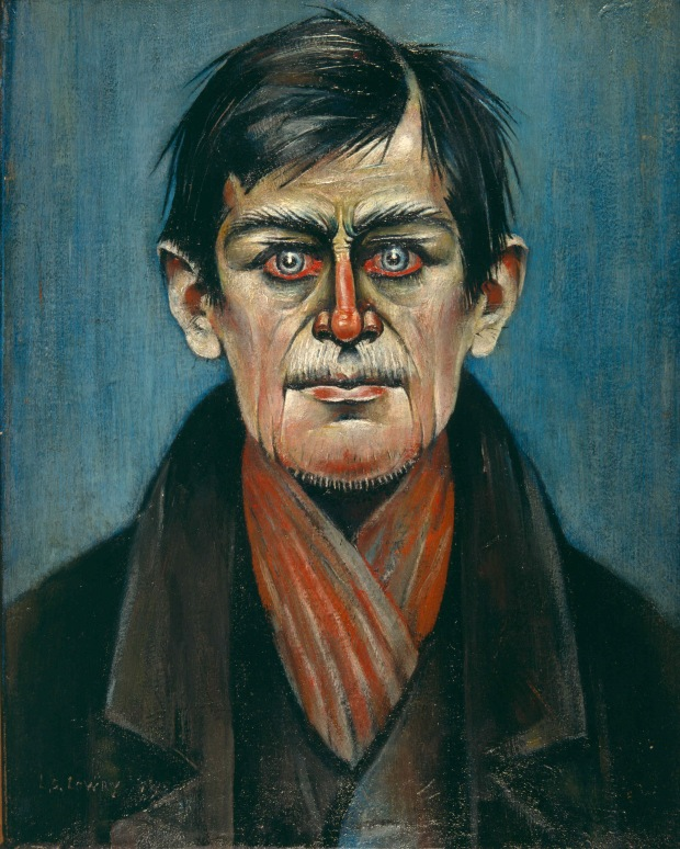 LS Lowry, Head of a Man (copyright The Lowry Collection, Salford)