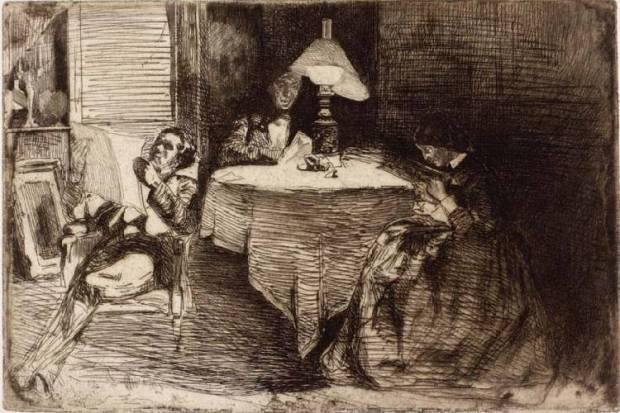 TheMusicRoom,1859,JAMWhistler©TheHunterian,UniversityofGlasgow,2018
